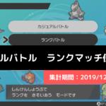 【ダブル】マスターランク級でのポケモン使用率!(2019/12/16~12/22)