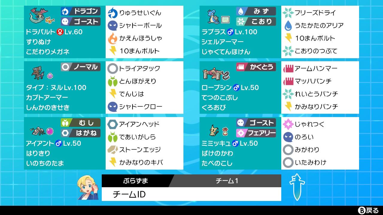 【シングル】ガラルビギニング準優勝 BO3対応型クッションタイプ:ヌル