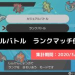 【ダブル】マスターランク級でのポケモン使用率!(2020/3/22~3/28)