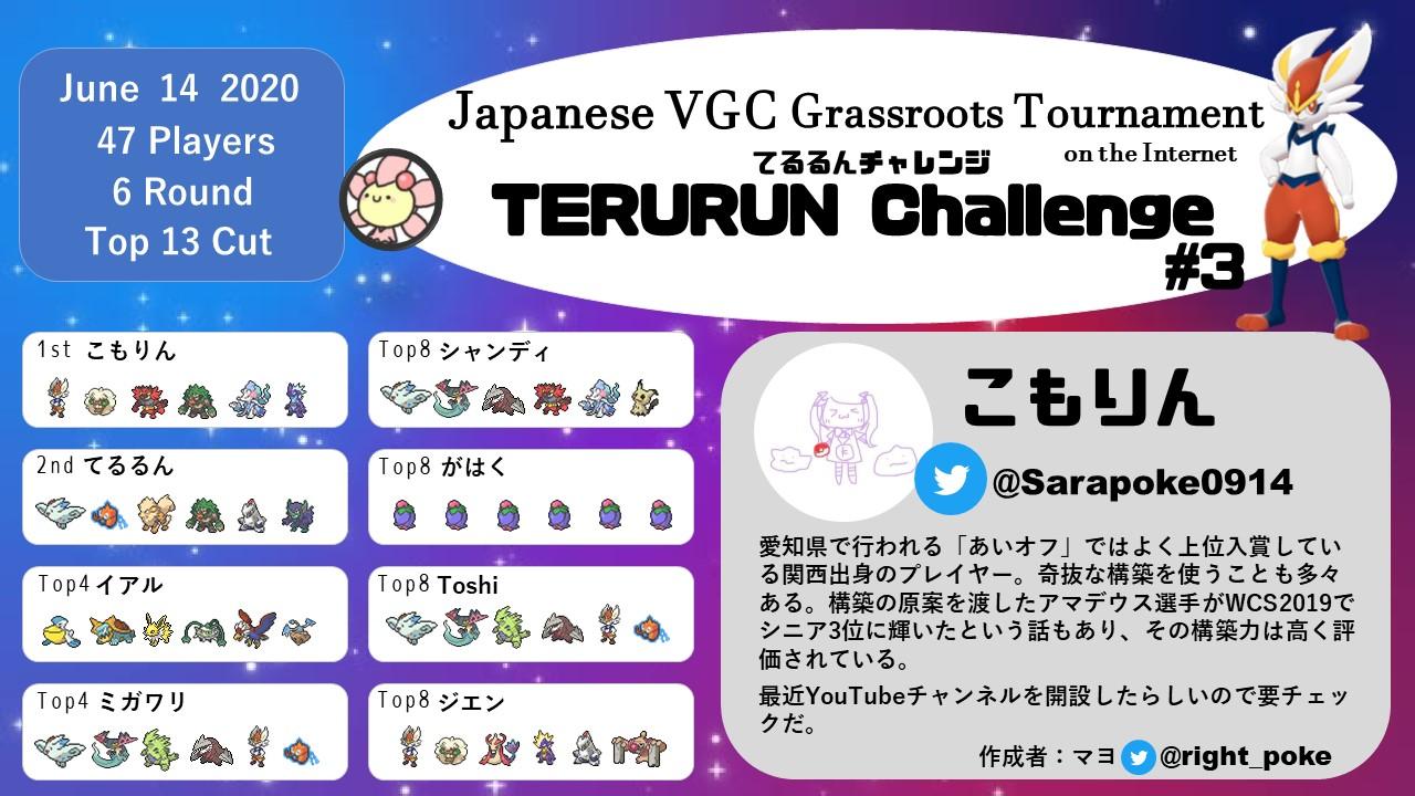 【大会レポート】てるるんチャレンジ#3【VGC2020】