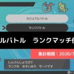 【ダブル】マスターランク級でのポケモン使用率!(2020/7/12~7/18)