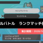 【ダブル】マスターランク級でのポケモン使用率!(2020/10/4~10/10)