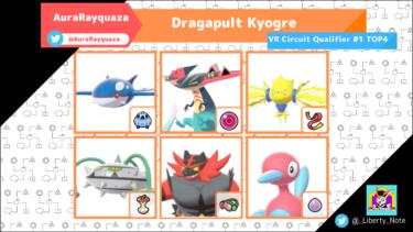 【VR Circuit Qualifier #1 Top 4】Dragapult Kyogre